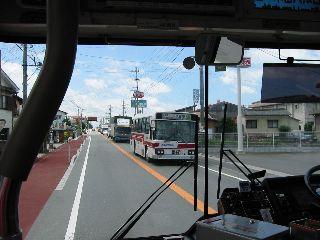 西鉄バス久留米−大牟田線 50番バス同士の交換