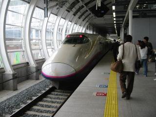 東北新幹線八戸延長「はやて」。 八戸