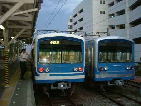 箱根バイパス経由のバスで下山し、伊豆箱根鉄道大雄山駅へ。今回も乗りつぶしが目的だし…。