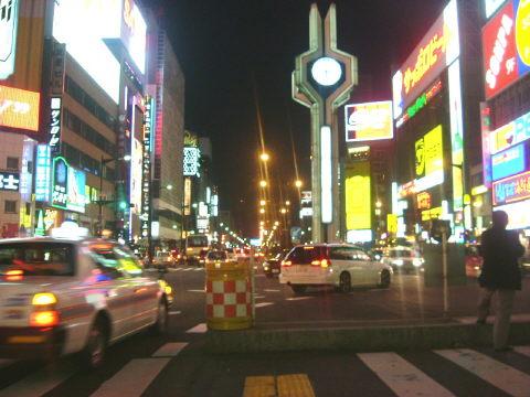 札幌大通の夜景です。北酒場を歌いたくなってしまうのは私だけ?
