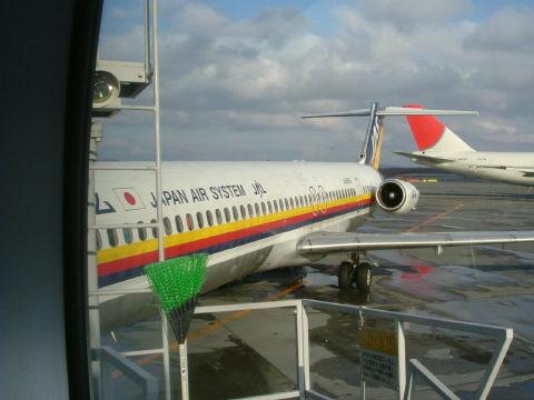 帰りの名古屋行き。行きは空席もあったのですが、帰りは満席でした。