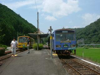 錦川鉄道の交換風景