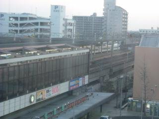 トレインビューを楽しんだホテル東横イン佐賀駅前