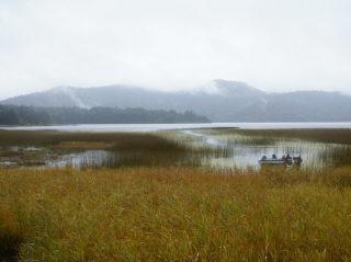尾瀬沼の全景です。尾瀬夜行を使うと便利です